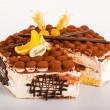 Tiramisu dessert cake delicious creamy mascarpone - Stock Photo