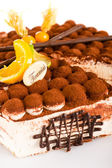 Tiramisu cake delicious dessert mascarpone — Stock Photo
