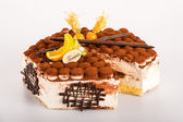 Tiramisu dessert cake delicious creamy mascarpone — Stock Photo