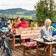 Young people relax mountain holiday summer sport - Foto Stock