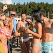 Young having party at beach — Foto Stock