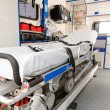 Interior view of an ambulance car stretcher - Stock Photo