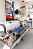 Interior view of an ambulance car stretcher — Stock Photo