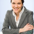 Confident smiling businesswoman looking at camera — Stock Photo #25912455