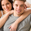 Portrait of smiling happy couple together — Stock Photo