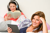 Best friends resting in their room — Stock Photo