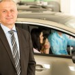 Closeup portrait of car dealer — Stockfoto