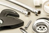 A variety of plumbing accessories — Stockfoto