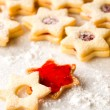 Stock Photo: Gingerbread christmas cookie star powdered sugar