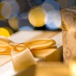 Christmas Gifts Gold — Stock Photo