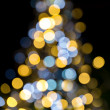 Christmas tree sparkling lights — Stock Photo