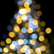 Kerstboom mousserende lichten — Stockfoto