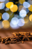 Christmas spices clove, star anise and cinnamon — Stock Photo