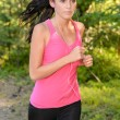 Stock Photo: Running womoutdoor close-up