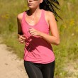 Athlete woman running training on sunny day — Stock Photo