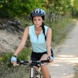 Woman enjoy recreational mountain biking  — Stock Photo #41198365