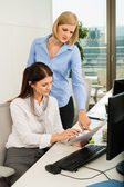 Businesswomen Discussing In Office — Stock Photo