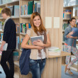 Group of students in college library — Stock Photo #44731711