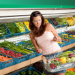 Grocery store shopping - Woman in summer outfit — Stock Photo #4684532