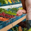 Grocery store shopping - Basket with food — Stock Photo #4684549