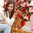 Young woman with Christmas decoration — Stock Photo #4695738