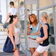 Student girls chatting together — Stock Photo #48611255