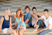 Group of college students sitting — Stock Photo