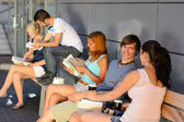Group of students with books — Stock Photo