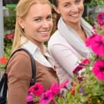 Customer women in garden center — Stock Photo #49202073