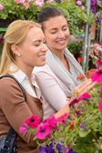 Women choosing flowers — Stock Photo