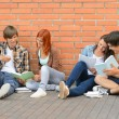 Group of students with books hanging out — Stock Photo #49566117