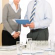 Office supply - two business discussing — Stock Photo #9036777