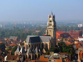 Aerial view of Brugge — Stockfoto