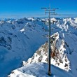 Antenna on top of the mountain — Stock Photo