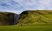 Skogarfoss waterval in ijsland — Stockfoto