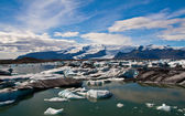Lagoa de geleira na islândia — Foto Stock