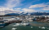 Lagune de glacier en islande — Photo