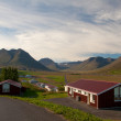 Houses in a valley in Iceland — Stock Photo