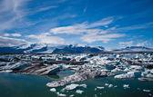 Laguna del ghiacciaio in islanda — Foto Stock