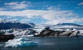 Laguna jokulsarlon ledovce na islandu — Stock fotografie