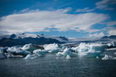 Laguna del ghiacciaio di jokulsarlon islanda — Foto Stock