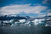 Laguny jokulsarlon w islandii — Zdjęcie stockowe