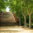 Stairs in Montjuic park in Barcelona, Spain — Stock Photo