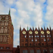 Townhall in Stralsund Germany — Stockfoto