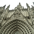 details of facade of main cathedral of barcelona — Stock Photo