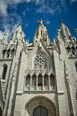 バルセロナの山にティビダボ教会 — ストック写真