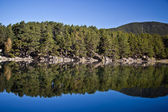 Engolasters lake in the Pyrenees, Andorra. — Stock Photo