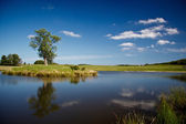 Beautiful lake in Dyrehave park, Denmark — Stock Photo