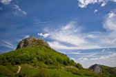 Montsegur castle — Stock Photo