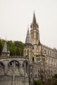 The sanctuary of Lourdes (Pyrenees, France) — Stock Photo